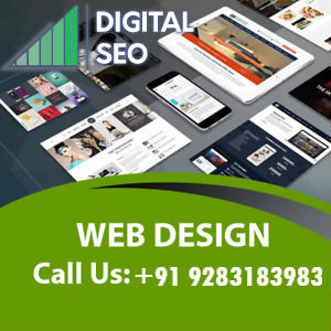 Different Types Of Web Designs Displayed, The Web Designing Company Name And Logo On The Above Left Corner, Text And Contact Details Mentioned Below