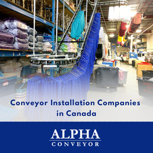 The Garment Conveyor Banner With Its Logo In Blue And White Color Displays The Garment Installation Process Image In The Background